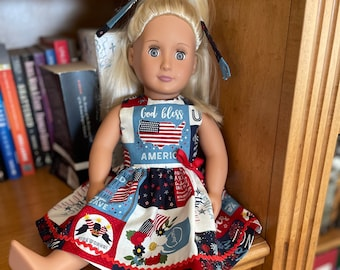 Patriotic Dress for 18 inch doll