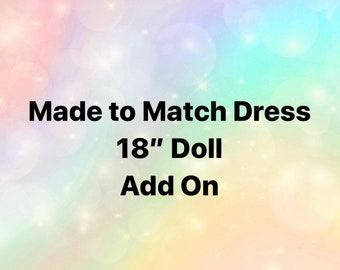 18in matching doll dress