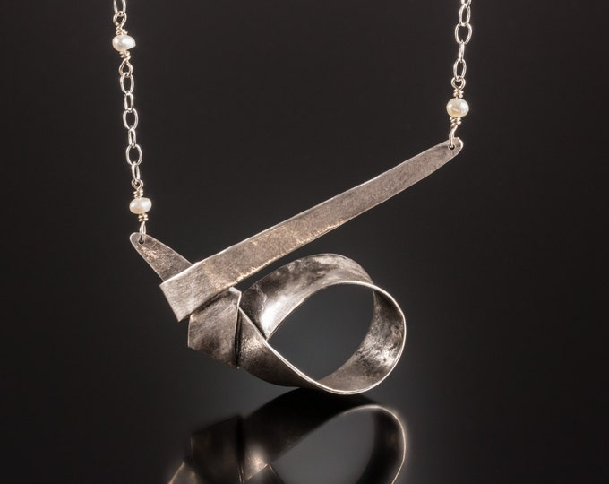 Silver Knot Necklace OOAK