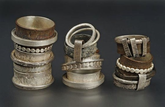 selection of spinner rings ooak