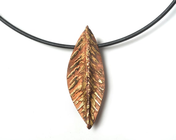 Gold Leaf Pendant