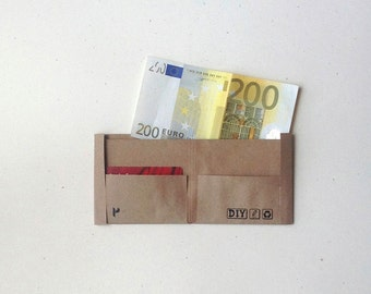 Recycled Paper Wallet, Plain, Draw Yourself, Decorate Yourself - Set of 3 pcs.