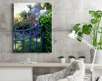 Wrought Iron Gate Garden Print - Charleston South Carolina Photography - Fine Art Home Decor Wall Art - Romantic Feminine Photograph