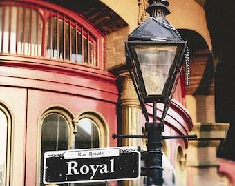 New Orleans Art, French Quarter Streetlamp Print, Royal Street Sign, Fine Art Photography Print, Living Room Decor, Gift for Her, NOLA Gift