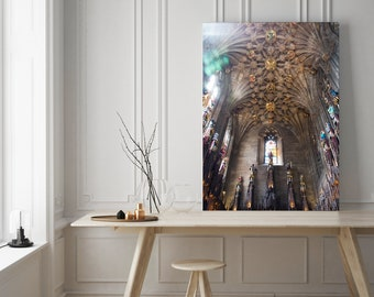 Fine Art Photography, Oversize Wall Art, Edinburgh Print, St. Giles Cathedral, Scotland Art, Wall Print, Stained Glass Print, Living Room