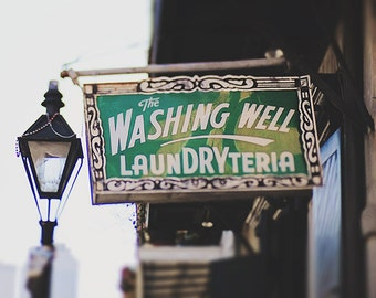 """New Orleans Photography """"The Washing Well"""" Art Print. Louisiana Photograph. New Orleans Art"""