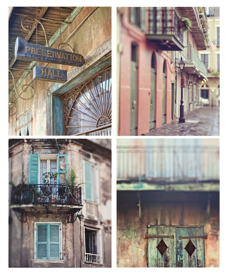New Orleans Photography Set Set of 4 Prints Fine Art image 0