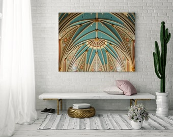 Architecture Wall Art, Large Fine Art Photography, Pastel Home Decor, Cathedral Photo, Savannah Georgia, St John the Baptist Cathedral