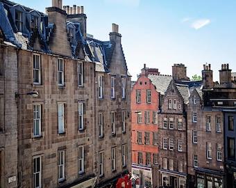 Large Wall Art, Victoria Street, Edinburgh Scotland Art, Scottish Photography, Architecture Print, 8x10, 11x14, 16x20, 20x24, 24x36, 30x40