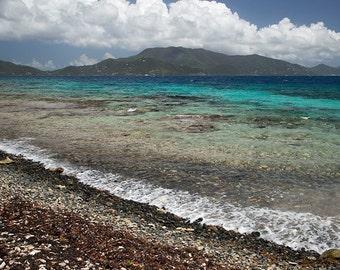 Ocean Print, St. John USVI Photograph, Beach Wall Art, Haulover Bay, Fine Art Print, Caribbean Art, Tropical Decor, Turquoise Home Decor