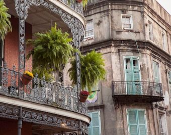 Fine Art Print, New Orleans Art, Photography Print, French Quarter Architecture, Affordable Art, Home Decoration, Colorful Wall Art