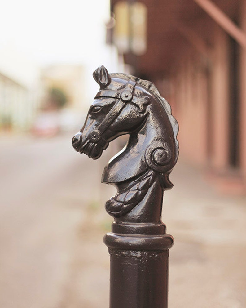 Horse Decor New Orleans Wall Art Hitching Post Fine Art image 0