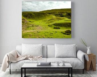 Oversized Landscape Print, Isle of Skye Scotland, Fine Art Photography, Large Living Room Art, Travel Home Decor, Scottish Gifts, Fairy Glen