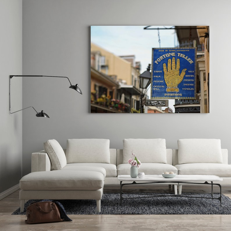 New Orleans French Quarter Art Psychic Fortune Teller Sign image 0