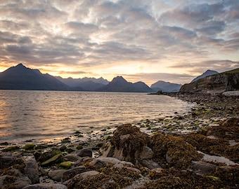 Large Landscape Print, Elgol Scotland, Sunset Photograph, Living Room Art, Bedroom Decor, Oversize Wall Print, Mountain Photography, Ocean