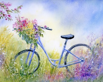 Bicycle - Flowers - Meadow