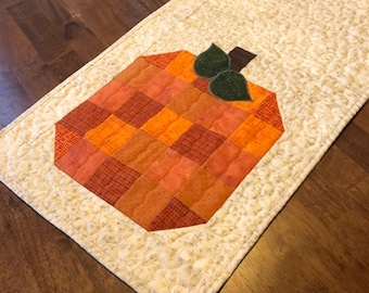 Pumpkin Fall Autumn Pieced Quilted Table Runner Quiltsy Handmade
