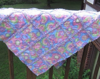 Baby Girl Flannel Rag Quilt Baby Blanket Baby Gift Crib Quilt Quiltsy Handmade