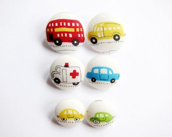 Handmade Decorative Novelty Buttons 6 Purple Mouse Toy or Animal Car Buttons sewing or crafting buttons. Knitting