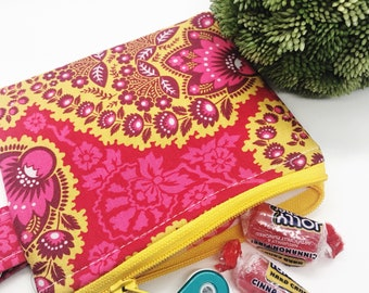 Small zipper keychain pouch. Key chain wallet. Small Wallet. Coin Purse