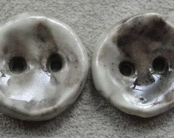 artisan porcelain art bead pendant set grey tan white found on the beach pebble sculpture katy wroe T154