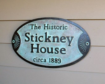 Custom Historic House Plaque