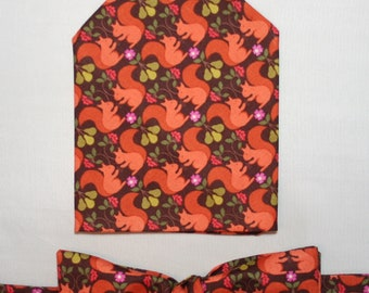 men/'s gift set Seaside ocean beach sea creatures Men/'s Bow-tie /& Pocket Square set