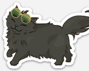 Cool as a Cucumber 3 inch Sticker or Magnet