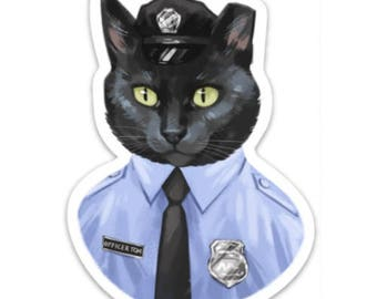 Officer Tom 4 inch Sticker or Magnet