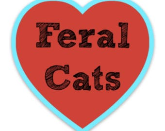 Feral Cat Love Sticker