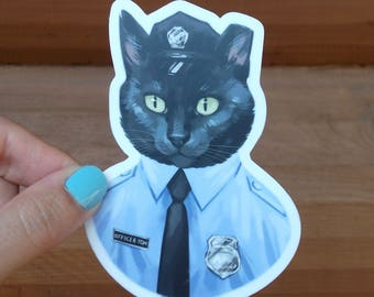 Officer Tom 4 inch Sticker