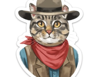 Cowboy Walter 4 inch Sticker or Magnet