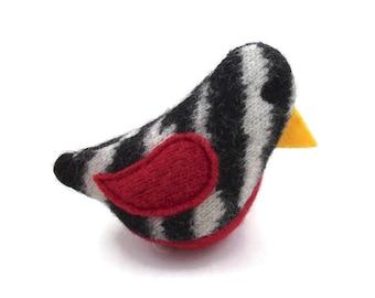Birds of a Sweater Catnip Cat Toy - Zebra & Red