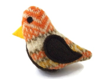 Birds of a Sweater Catnip Cat Toy - Orange & Yellow