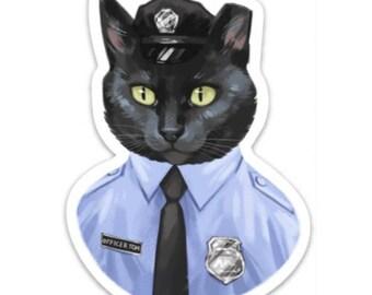 Officer Tom 4 inch Sticker or Magnet