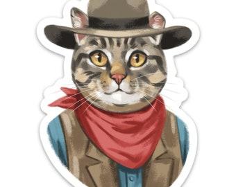 Cowboy Walter 4 inch Sticker or Magnet