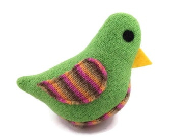 Birds of a Sweater Catnip Cat Toy - Green and Stripes