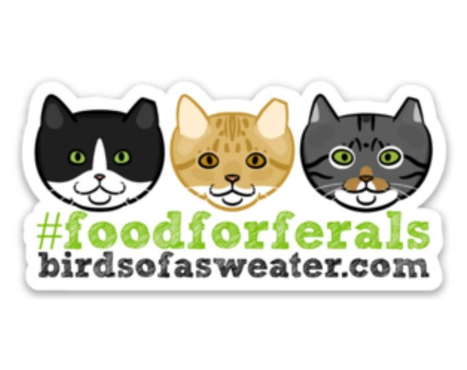 Featured listing image: Food for Ferals Sticker