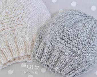 SIMPLE baby hat PREEMIE and NEWBORN knitting pattern  8ca2fed6c56