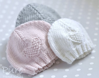 SIMPLE baby hat PREEMIE and NEWBORN knitting pattern  8ca2fed6c56