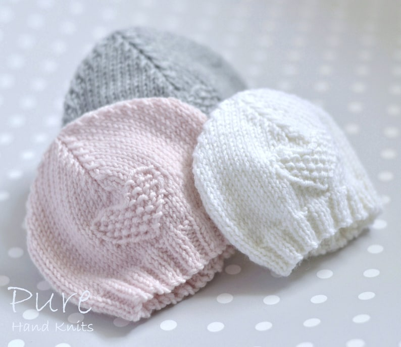 79a077cd406 IN THE ROUND andFLAT Easy Preemie and Baby hat knitting