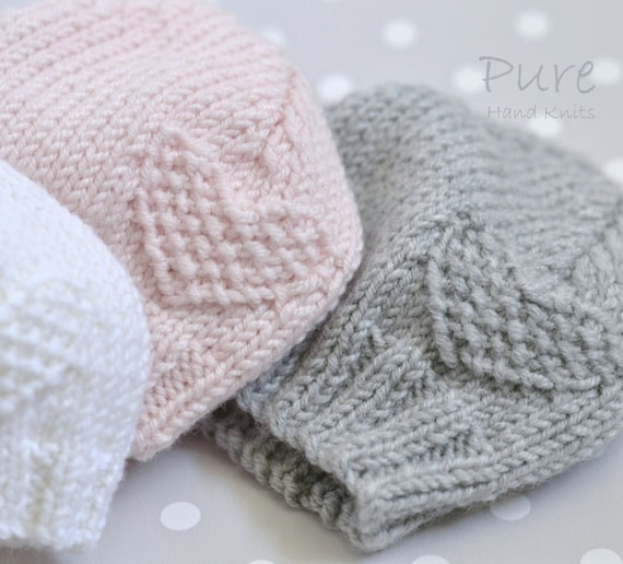 Easy Knit Preemie And Baby Hat Knitting Pattern Etsy