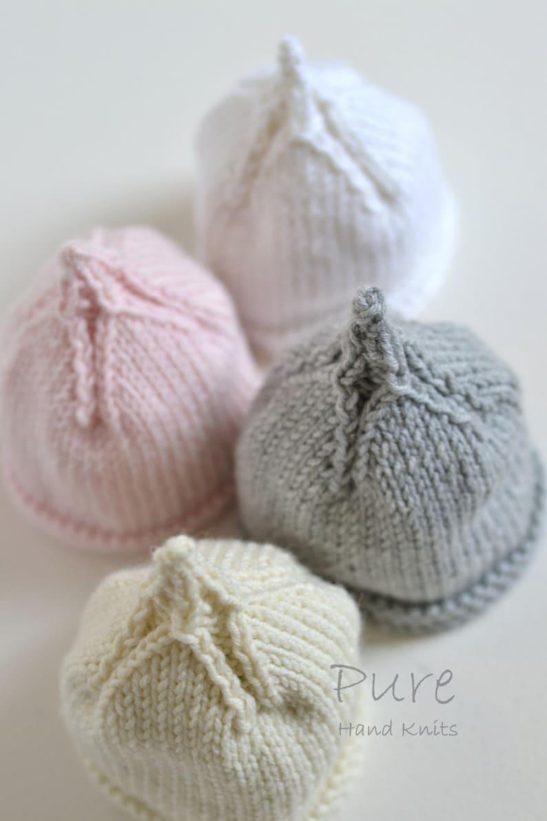 250a1c631 EASY PREEMIE and NEWBORN baby beanie knitting pattern Classic