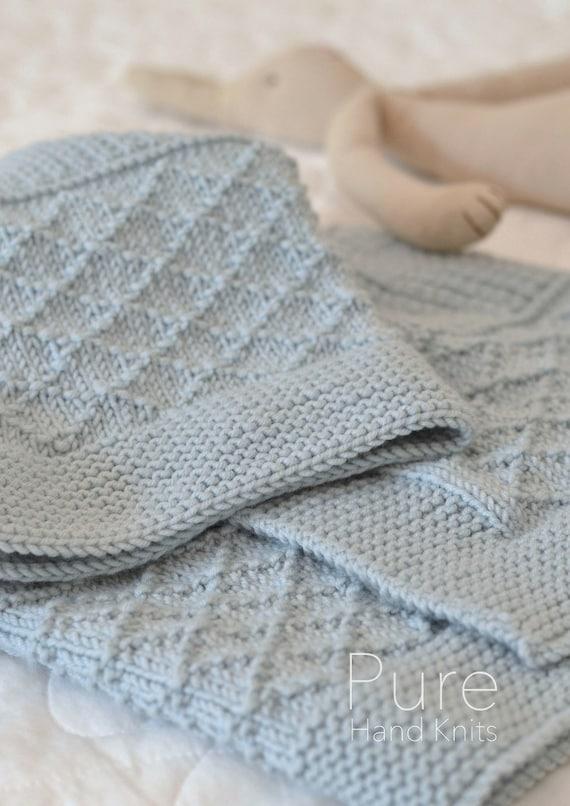 Simple Blanket Knitting Pattern Jasper Smallbaby Blanket Etsy