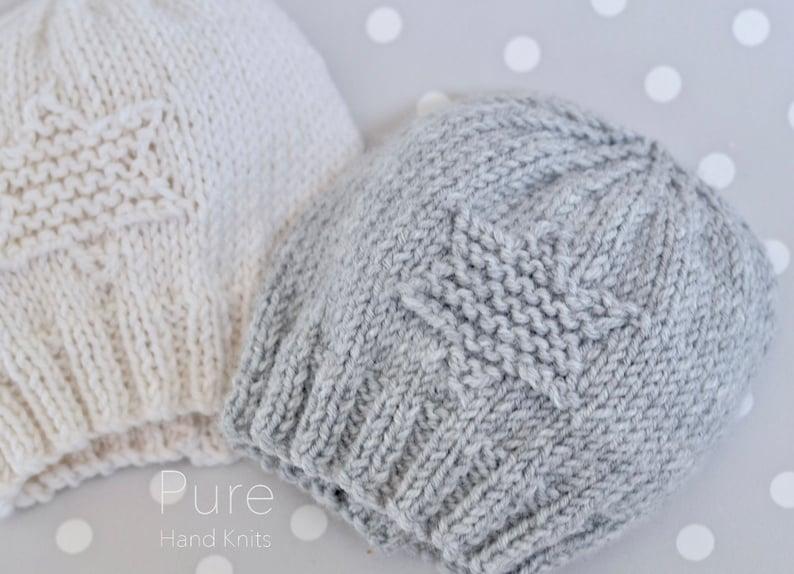 cea887e53 NEW SIMPLE baby hat preemie newborn baby toddler knitting