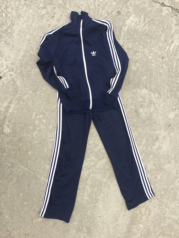 80's Adidas track suit women's LG Navy
