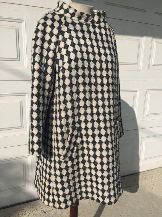 Vintage John Wanamaker Harlequin Coat with side z… - image 6
