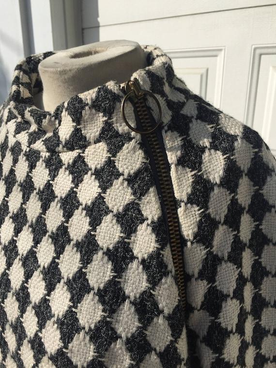 Vintage John Wanamaker Harlequin Coat with side z… - image 5
