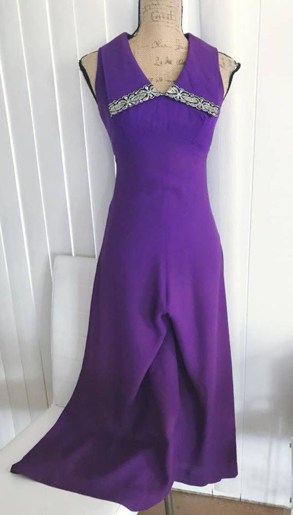 Sale Fabulous Vintage 1960's Purple Palazzo Pant W