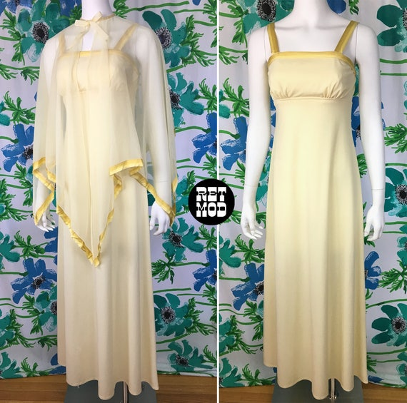 Buttery Yellow Vintage 70s Summer Bridesmaid Party